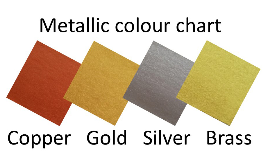 Metallic colour cart for showjumps